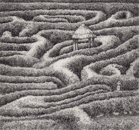 Prints Maze Cornwall Etching