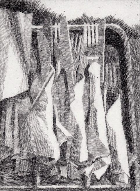 Prints Cutlery Marios Etching