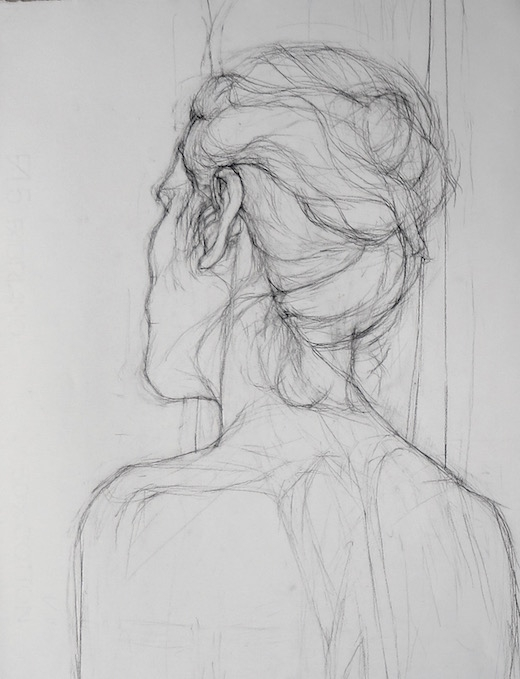 Woman Female Study Back Drawing