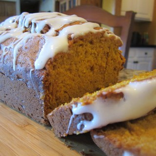 A Sweet Treat, Pumpkin Bread with Cream Cheese Glaze