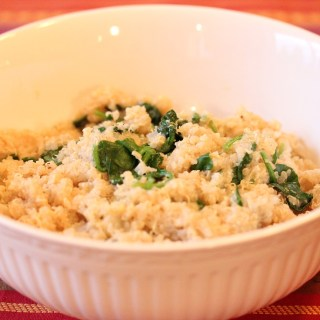 Spinach Parmesan Quinoa