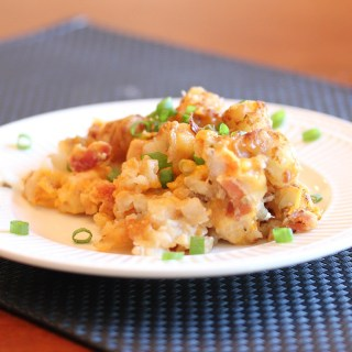 Cheesy Chicken Tator Tot Casserole