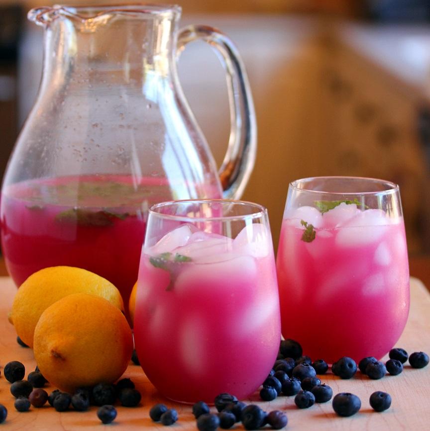 Blueberry Mint Lemonade - Lisa's Dinnertime Dish