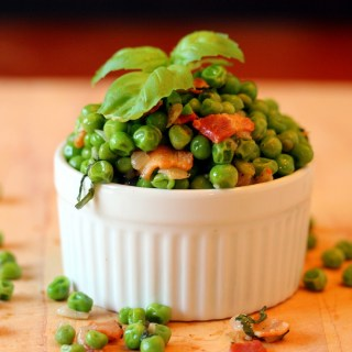 Sweet Peas with Bacon and Onion