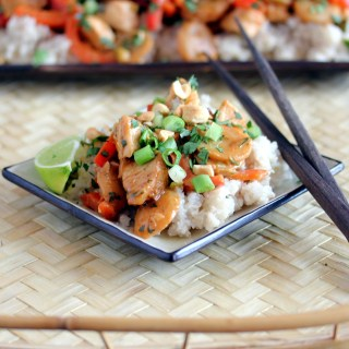 Chicken Stir Fry with Spicy Peanut Sauce