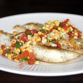 Pan Seared Tilapia with Spicy Corn Salsa
