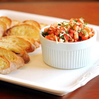 Tomato Bruschetta on Crostini