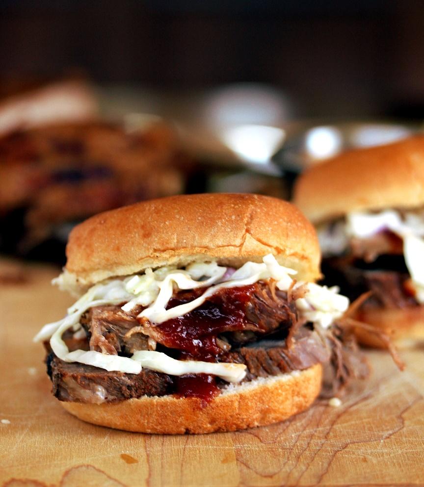 Slow Cooker Barbecue Brisket Sliders - Lisa's Dinnertime ...
