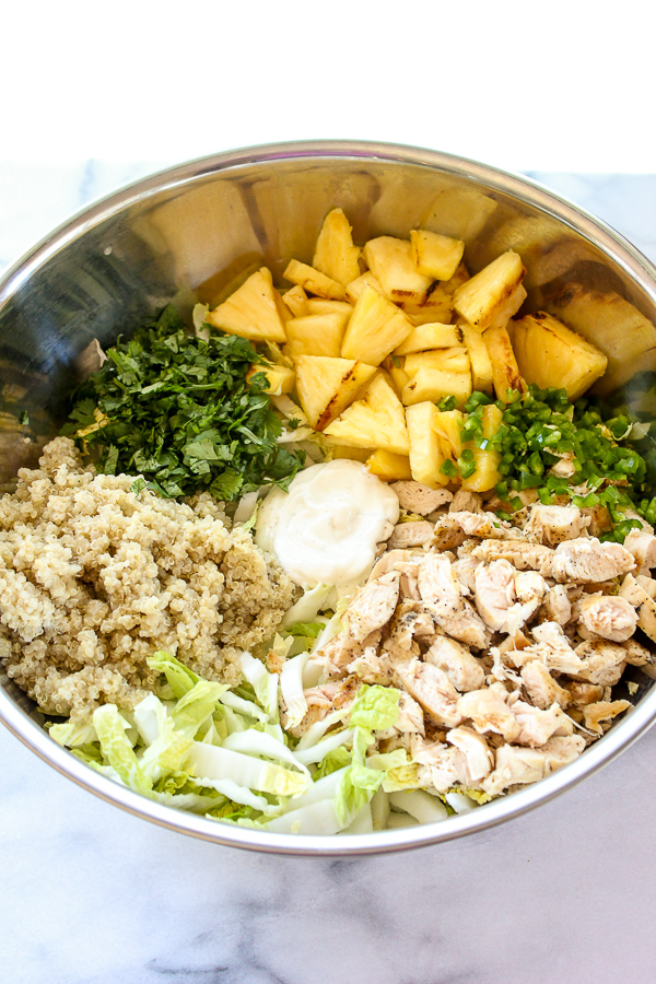 Grilled Pineapple, Chicken and Quinoa Salad