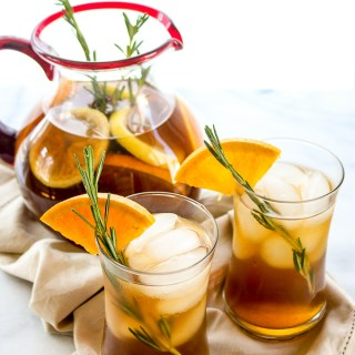 Rosemary Orange Ice Tea
