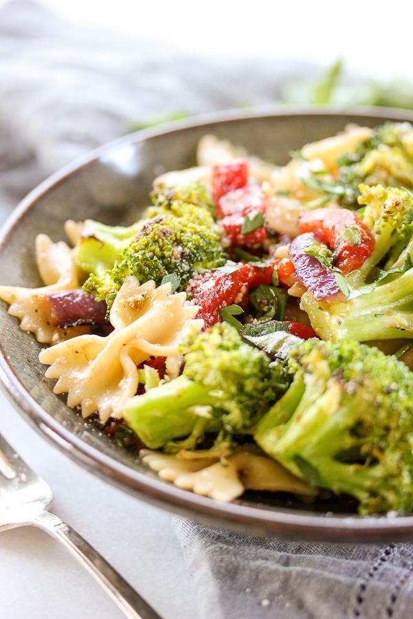 Roasted Broccoli Summer Pasta Salad