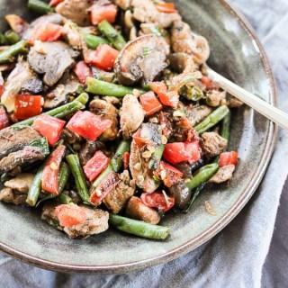 Skillet Chicken Vegetable Toss