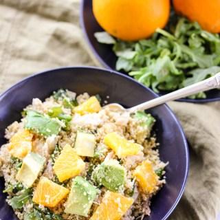 Warm Chicken Citrus Couscous Salad