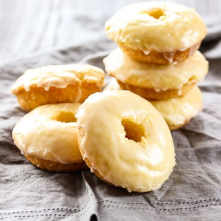 Baked Glazed Lemon Donuts
