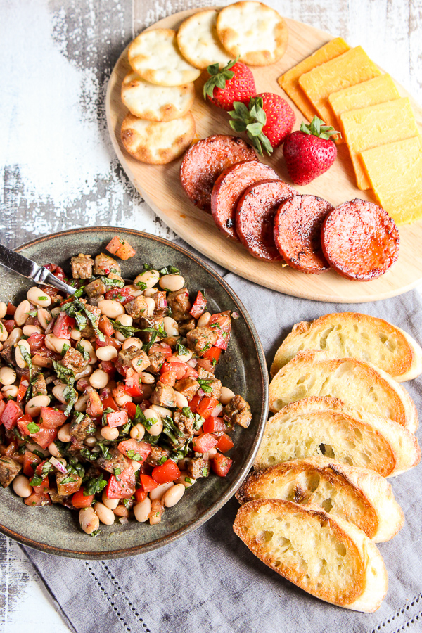 Italian Sausage And White Bean Bruschetta Lisa S