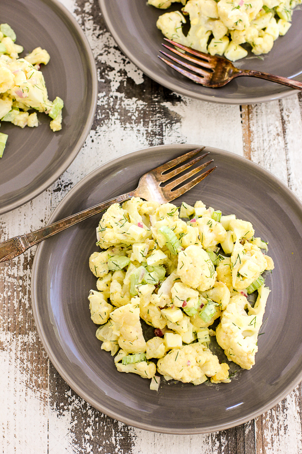 What can you make with eggs and mashed potatoes from cauliflower
