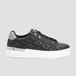 Murphys---LIU-JO---Black-sneakers-with-matelassé-effect-logo