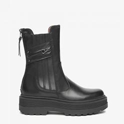 Murphys---NeroGiardini---Black-Leather-Flatform-With-Zip