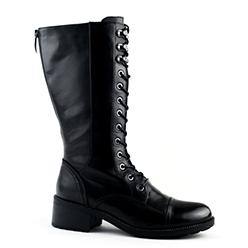 Murphys---Regarde-le-Ciel---Black-Leather-Lined-Mid-Calf-Biker-Boot