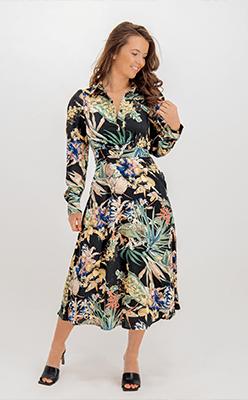 BORN---Cara-Black-Floral-Printed-Shirt-Dress