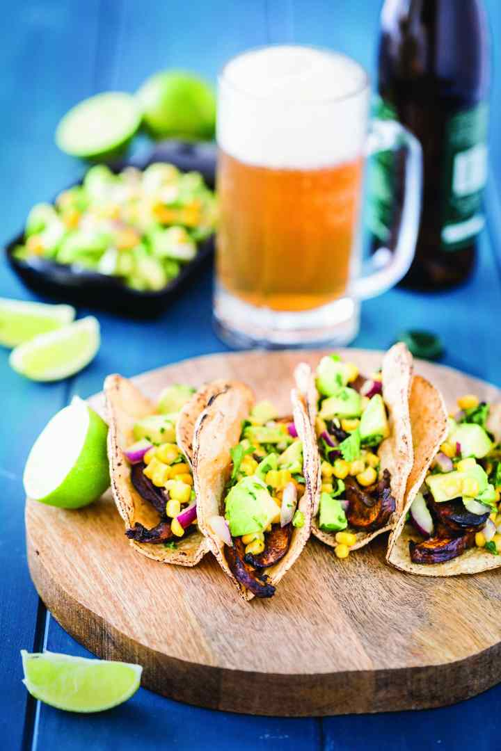 Beer-Marinated Portobello Tacos with Avocado Corn Salsa.BMFWNEV copy.jpg