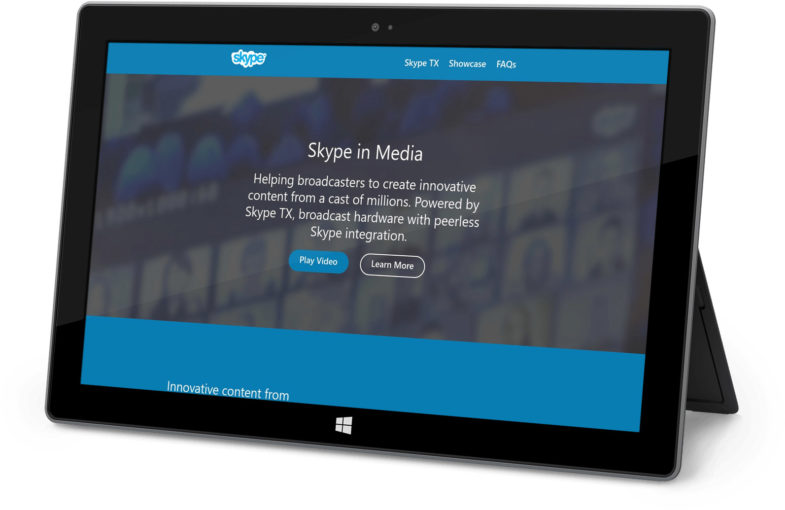 Microsoft Skype in WordPress