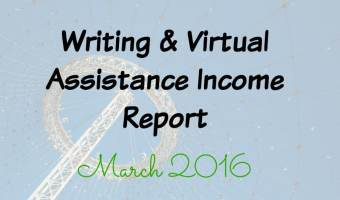 Writing & Virtual Assistance Income Report March 2016