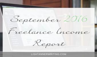 September 2016 Freelance Income Report