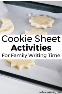 Need some inspiration for Family Writing Time? Get out a cookie sheet and see what your kids can do!