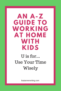 You must be aware of how you spend your time when you're working at home with kids! Click through to read some time managment tips for WAHMs.