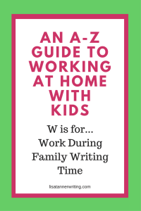 Have you tried Family Writing Time yet? It's one way I get more work time in my days at home with eight kids.