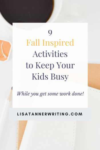 Fall inspired activities to keep your kids engaged while you get some work done. #momlife #fallactivities