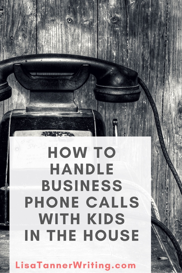 Are you wondering how to handle important phone calls when you have kids in the house? Here are some ideas to help. #mompreneur