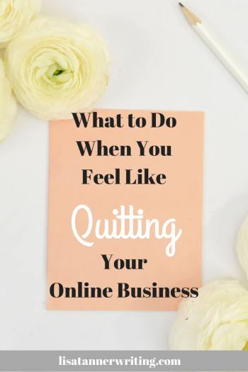 Have you ever felt like quitting your online business? Here are some things to think through before you make that decision final. #onlinebusiness #momboss