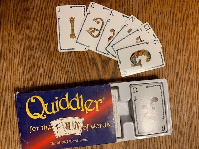Quiddler - a fun board game for freelance writers
