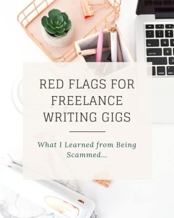 red flags for freelance writing gigs being scammed