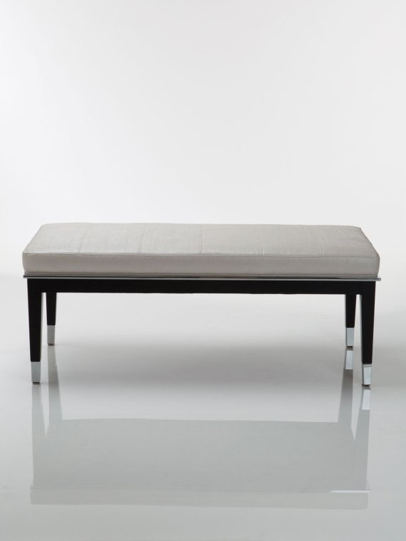 Taylor Wood Steel Bench