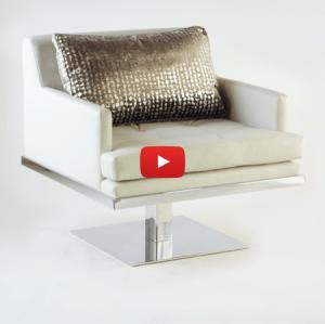 Lisa Taylor Designs Swivel Arm Chair Video