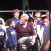 Mrs. Testerman sings with Prep-One