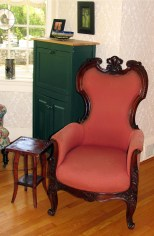The armchair from which the author's grandfather, Gen. Charles Kilbourne, held court after his retirement in the house in Lexington, Va.