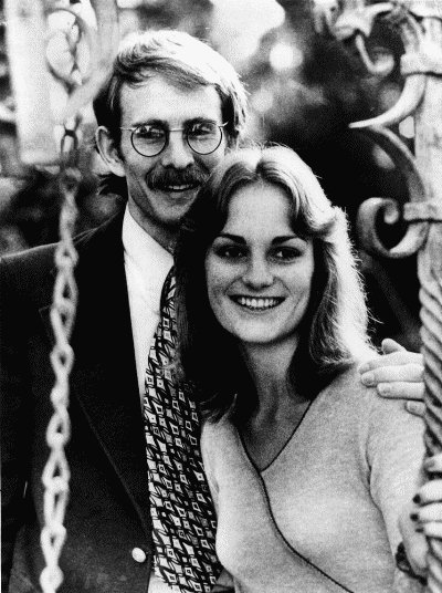 Patricia Hearst shown with then fiancee Steven Weed