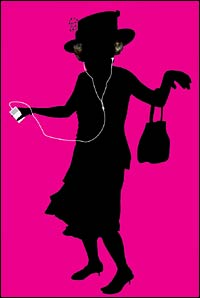 Queen Elizabeth Jiving to Her New IPod