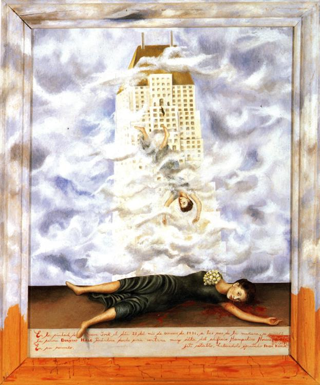 """The Suicide of Dorothy Hale"" by Frida Kahlo, 1938/39"