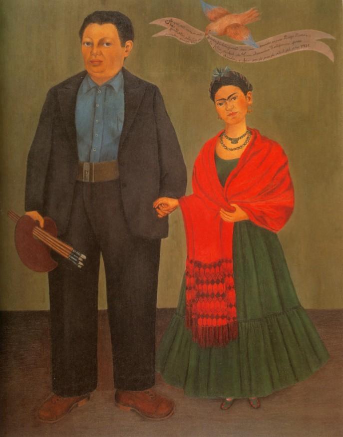 """Frida and Diego Rivera"" by Frida Kahlo, 1931"