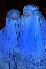 Two Afghan Women Wearing Burqas
