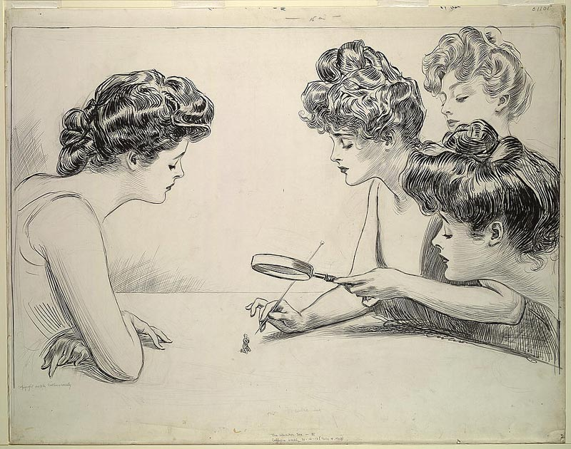 """""""The Weaker Sex, by Charles Dana Gibson, 1903"""