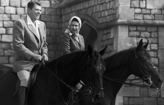 The Queen with President Ronald Reagan in 1982
