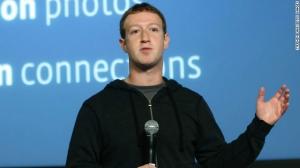 "Mark Zuckerberg in his ""hoodie."""