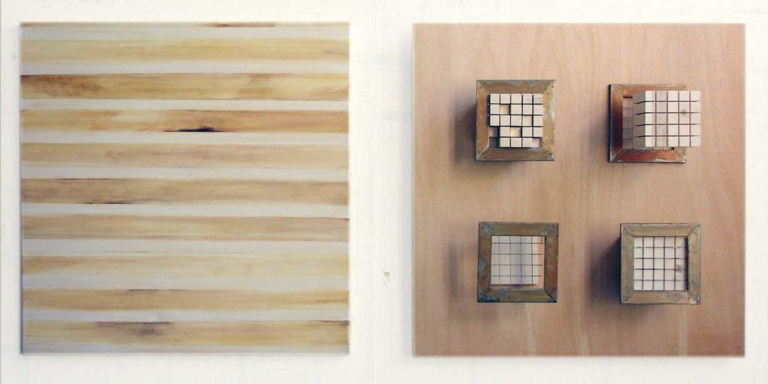 """Passe Partout"", 2008, wood, steel, acrylic on canvas"