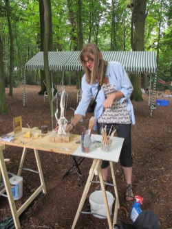 """Art Naturel."" The fifth attempt of a ribbon sculpture were made during a demonstration in a small wood!"